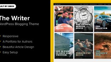 Download The Writer - Premium WordPress Blogging Theme Free