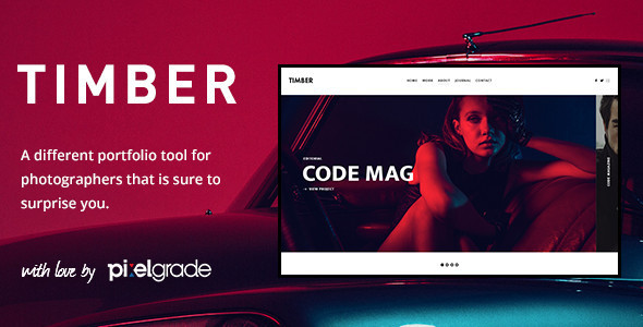 Download TIMBER - An Unusual Photography WordPress Theme Free