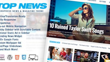 Download Top News - WordPress News & Magazine Theme Free