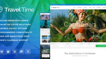 Download Travel Time v.1.0.3 - Tour, Hotel and Vacation Travel WordPress Theme Free