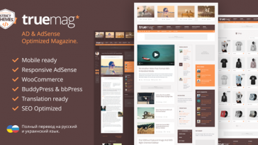 Download Truemag - AD & AdSense Optimized Magazine WordPress Theme Free
