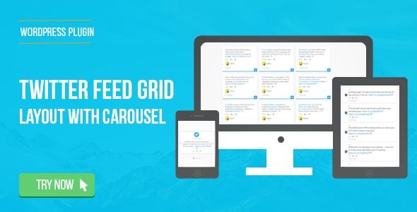 Download Twitter Feed Grid With Carousel for WordPress  - Free Wordpress Plugin