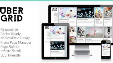 Download Ubergrid - Responsive Grid WordPress Theme Free