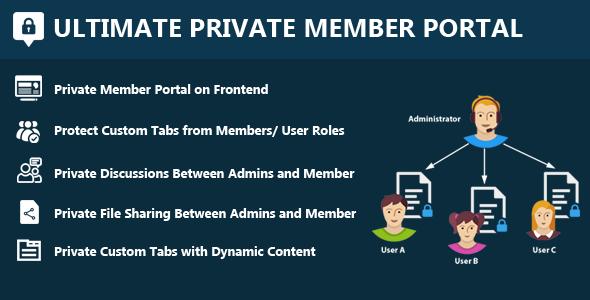 Download Ultimate Private Member Portal  - Free Wordpress Plugin