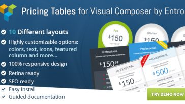 Download Ultimate VC Pricing Tables by Entro  - Free Wordpress Plugin