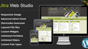 Download Ultra Web Studio - Blog & Portfolio Wordpress Theme Free