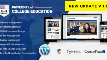 Download University v.4.9.4 - Education Responsive WordPress Theme Free
