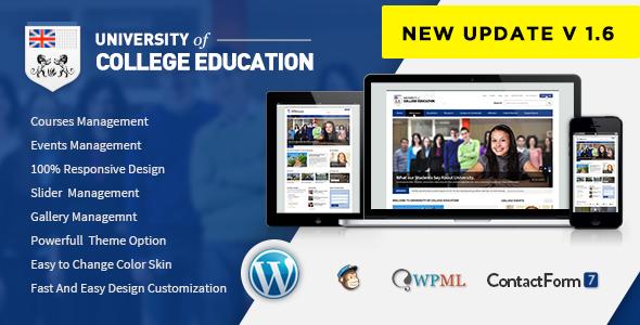 Download University v.4.9.4 - Education Responsive WordPress Theme Free