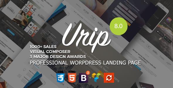 Download Urip  - Professional WordPress Landing Page Free