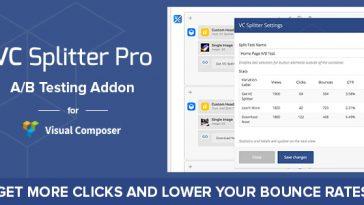 Download VC Splitter Pro: A/B Split Testing for Visual Composer  - Free Wordpress Plugin