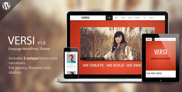 Download Versi - Onepage WordPress Theme Free