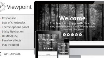 Download Viewpoint - Responsive single page portfolio Free