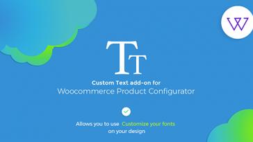 Download Visual Product Configurator Custom Text Add On  - Free Wordpress Plugin