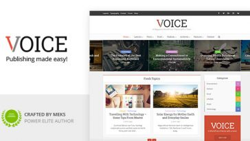 Download Voice v.2.4.1 - Clean News/Magazine WordPress Theme Free