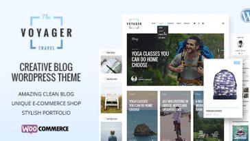 Download Voyager v.3.0 - Creative Blog WordPress Theme Free