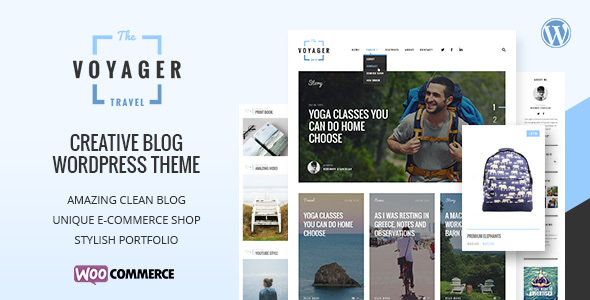 Download Voyager v.3.0 - Creative Blog WordPress Theme Free