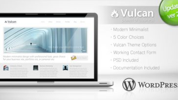 Download Vulcan - Minimalist Business Wordpress Theme 4 Free