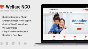 Download Welfare NGO v.4.7.2 - Nonprofit Organization Charity Theme Free
