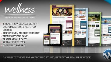 Download Wellness v.2.0.1 - A Health & Wellness WordPress Theme Free
