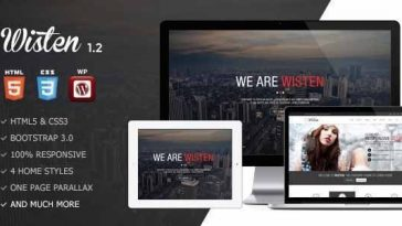Download Wisten - Wordpress One Page Parallax Theme Free