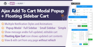 Download WooCommerce AJAX Add To Cart + Floating Cart Popup Modal + Sidebar  – Free WordPress Plugin