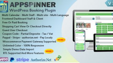 Download Woocommerce Appointment Booking & Scheduling Wordpress Plugin AppSpinner V 3.3 - Free Wordpress Plugin