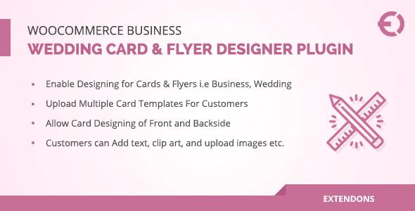 Download WooCommerce Business, Wedding Card & Flyer Designer Plugin  - Free Wordpress Plugin