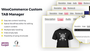 Download WooCommerce Custom Tab Manager  - Free Wordpress Plugin