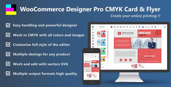 Download WooCommerce Designer Pro CMYK Card & Flyer  - Free Wordpress Plugin