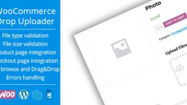 Download WooCommerce Drop Uploader Drag&Drop File Uploader Addon - Free Wordpress Plugin