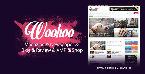 Download Woohoo - Modish News, Magazine and Blog Theme Free