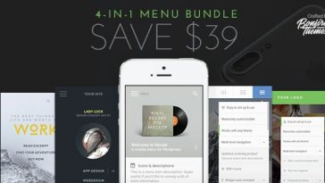 Download WordPress Mobile Menu Bundle  - Free Wordpress Plugin