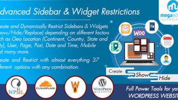 Download WordPress Sidebar and Widgets Visibility Create Sidebar, Hide Sidebar and Hide Widgets - Free Wordpress Plugin