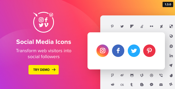 Download WordPress Social Media Icons  Social Icons Plugin - Free Wordpress Plugin