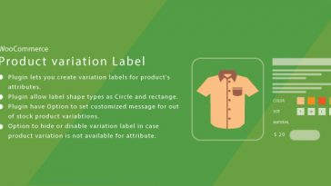 Download WordPress WooCommerce Product Variation Label  - Free Wordpress Plugin