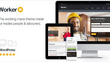 Download Worker v.5.4.7 - The Working Mans WordPress Theme Free