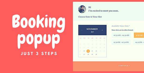 Download WP Booking Popup  - Free Wordpress Plugin