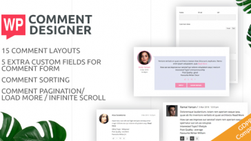 Download WP Comment Designer- Customize And Design WordPress Comments And Comment Form  - Free Wordpress Plugin