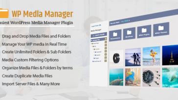 Download WP Media Manager The Easiest WordPress Media Manager Plugin - Free Wordpress Plugin