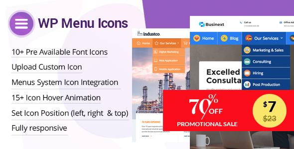 Download WP Menu Icons  Effectively Add & Customize Icons For WordPress Menus - Free Wordpress Plugin
