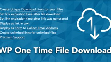 Download WP One Time File Download Unique Link Generator WordPress Plugin - Free Wordpress Plugin