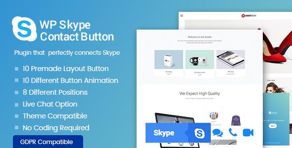 Download WP Skype Contact Button  - Free Wordpress Plugin