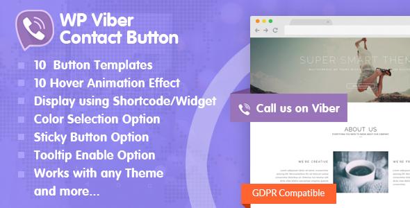 Download WP Viber Contact Button Premium Viber Contact Button Plugin for WordPress - Free Wordpress Plugin