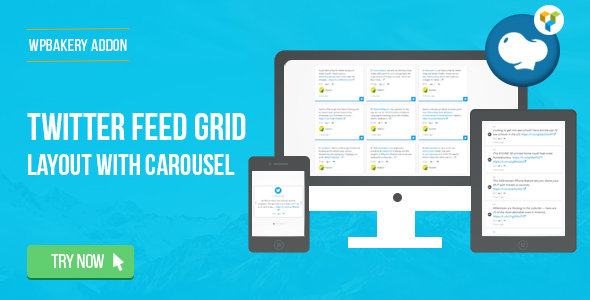 Download WPBakery Page Builder Twitter Feed Grid With Carousel(formerly  Visual Composer) – Free WordPress Plugin