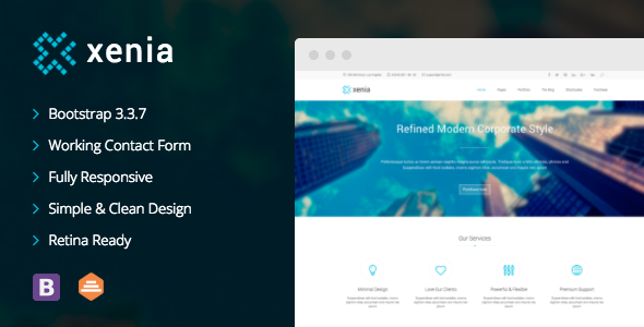 Download Xenia v.3.3.2 - Refined WordPress Corporate Theme Free