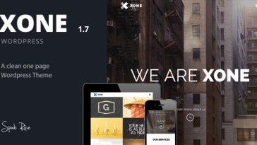 Download Xone - Clean One Page WordPress Theme Free