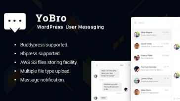 Download YoBro WordPress Multi User Private Messaging Plugin  - Free Wordpress Plugin