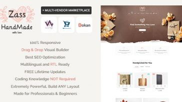 Download Zass - WooCommerce Theme for Handmade Artists and Artisans Free