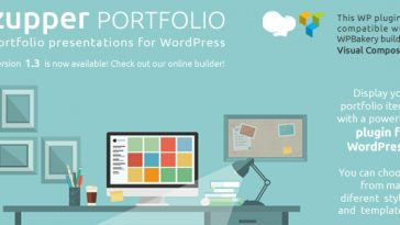 Download Zupper PORTFOLIO wordpress plugin portfolio items sections with text, images or videos displays - Free Wordpress Plugin