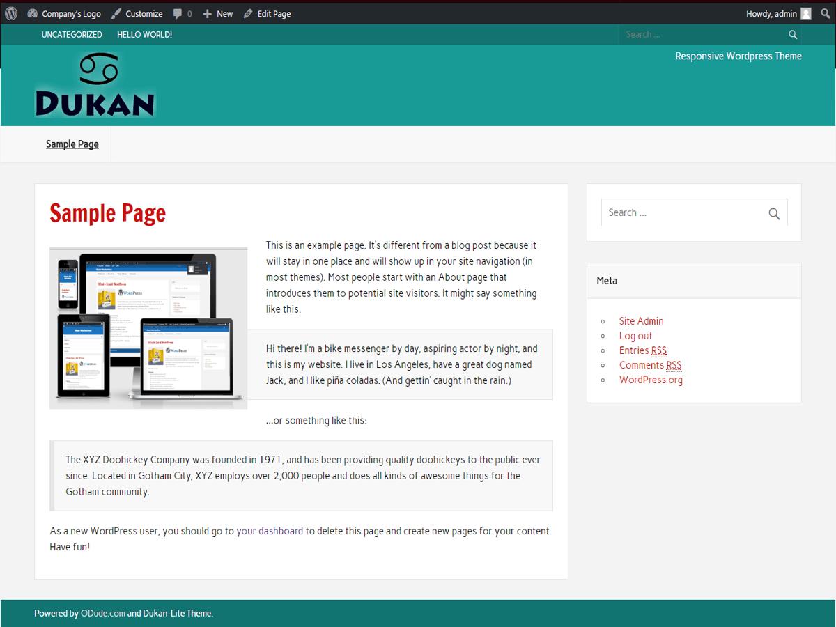 Download dukan Lite 1.15 – Free WordPress Theme